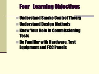 Four   Learning Objectives