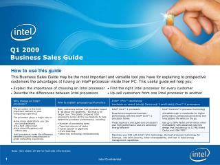 Q1 2009 Business Sales Guide