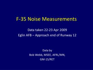 F-35 Noise Measurements
