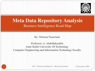 Meta Data Repository Analysis Business Intelligence Road Map