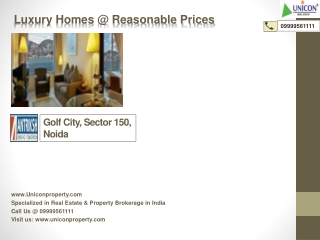 Golf City Sector 150 | 09999561111 | Antriksh Golf City