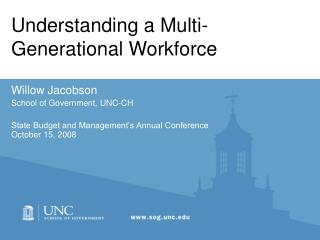 Understanding a Multi-Generational Workforce