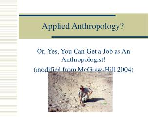 Applied Anthropology?