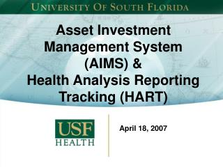 Asset Investment Management System AIMS  Health Analysis ...