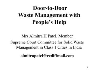 Door-to-Door Waste Management with People