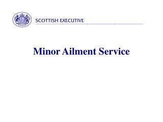 Minor Ailment Service