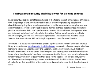 Finding a social security disability lawyer