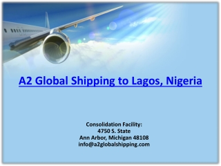 Air Cargo Freight Rates USA to Nigeria