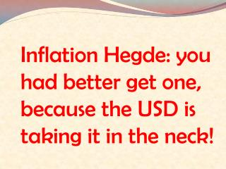 Inflation Hedge: you had better get one.