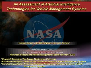 An Assessment of Artificial Intelligence Technologies for Vehicle Management Systems
