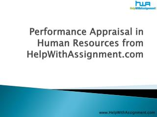 Performance Appraisal in Human Resources from HWA