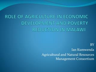 ROLE OF AGRICULTURE IN ECONOMIC DEVELOPMENT AND POVERTY REDUCTION ...
