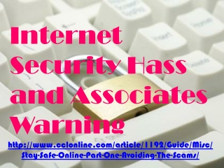 internet security hass and associates warning, Hold deg tryg