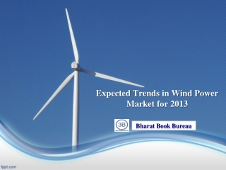 Expected Trends in Wind Power Market for 2013