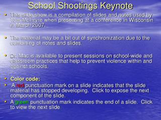 School Shootings Keynote