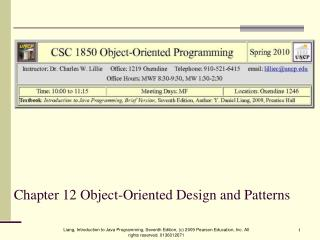 Chapter 12 Object-Oriented Design and Patterns