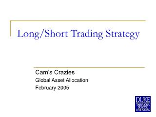 Long/Short Trading Strategy