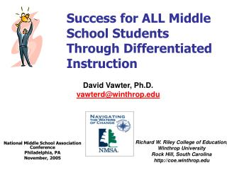 Success for ALL Middle School Students Through Differentiated ...