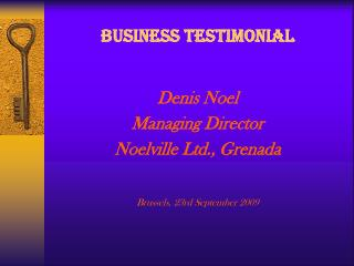 BUSINESS TESTIMONIAL