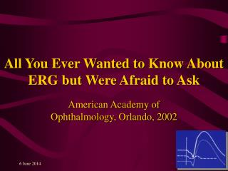 All You Ever Wanted to Know About ERG but Were Afraid to Ask