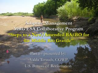 """Adaptive Management   MRG ESA Collaborative Program """"Steps to a New/Amended BA/BO for the Middle Rio Grande"""""""
