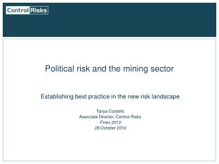 Political risk and the mining sector
