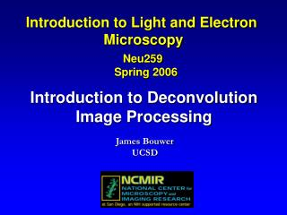 Introduction to Deconvolution Image Processing