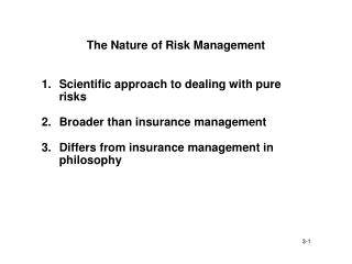 The Nature of Risk Management