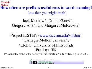 How often are prefixes useful cues to word meaning? Less than you might think!