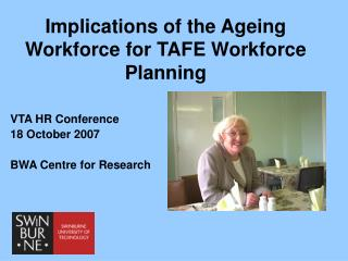 Implications of the Ageing Workforce for TAFE Workforce Planning