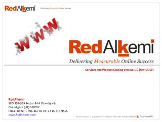 RedAlkemi-Services & Products Catalog