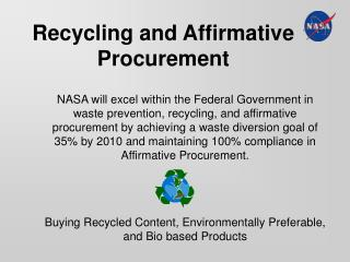 Recycling and Affirmative Procurement