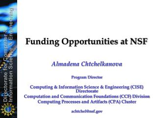 Funding Opportunities at NSF