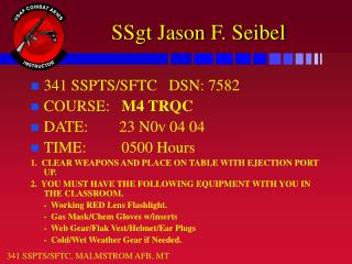 SSgt Jason F. Seibel