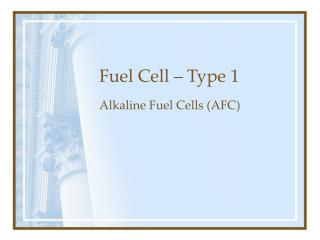 Fuel Cell – Type 1