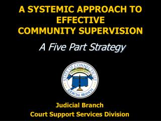 A SYSTEMIC APPROACH TO EFFECTIVE COMMUNITY SUPERVISION