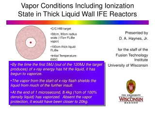 Vapor Conditions Including Ionization State in Thick Liquid Wall IFE Reactors