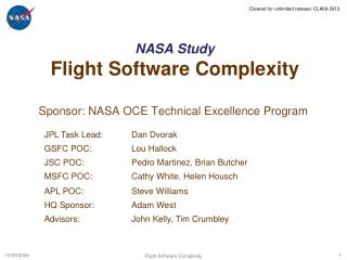 NASA Study Flight Software Complexity