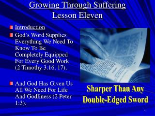 Growing Through Suffering Lesson Eleven