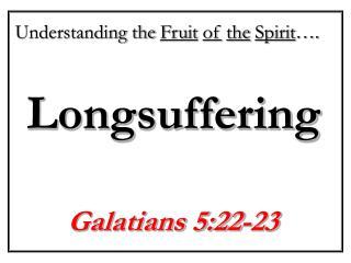Longsuffering
