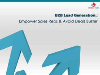 B2B Lead Generation: Empower Sales Reps & Avoid Deals Buster