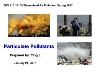 Particulate Pollutants