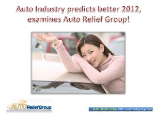 Auto Industry predicts better 2012