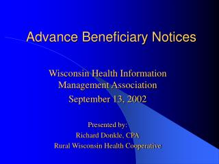 Advance Beneficiary Notices