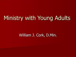 Ministry with Young Adults