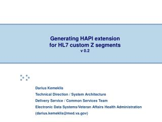 Generating HAPI extension for HL7 custom Z segments    v 0.2