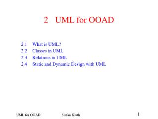 2	UML for OOAD