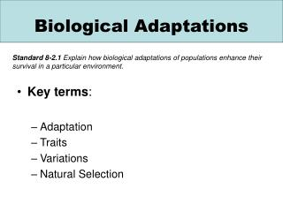Biological Adaptations