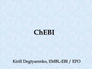ChEBI