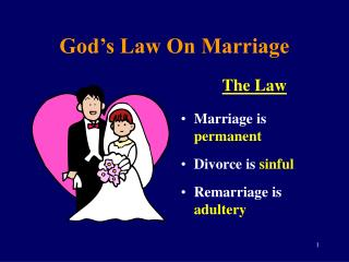 God's Law On Marriage